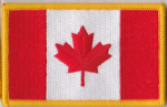 Canada Embroidered Flag Patch, style 08.